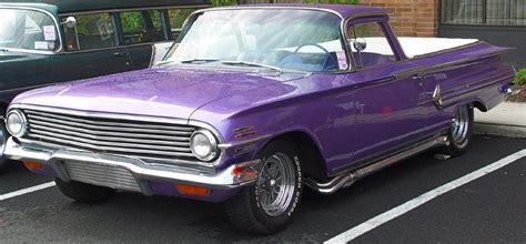 el mor chevrolet 1960 chevrolet el camino purple front angle