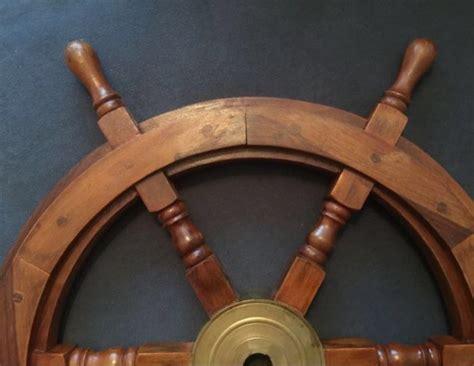 large boat steering wheel large wooden boat steering wheel catawiki
