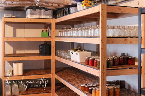 building basement storage shelves diy basement shelving the wood grain cottage