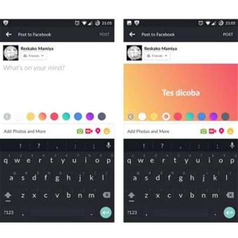 fb terbaru horee sekarang pengguna fb bisa bikin status mirip
