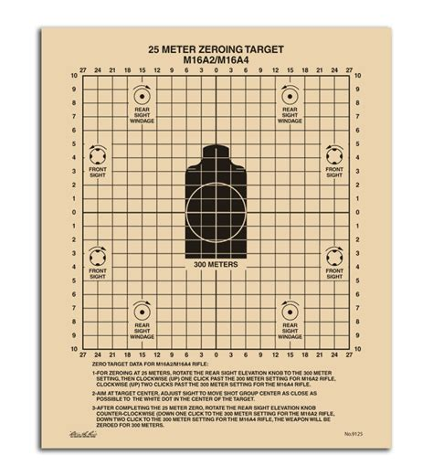 printable targets for zeroing m14 military 25 meter printable targets