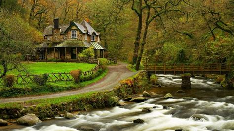 home wallpaper hd house in the woods hd wallpaper wallpaperfx