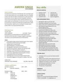 Hotel Management Resume Format by Hotel Manager Cv Template Description Cv Exle