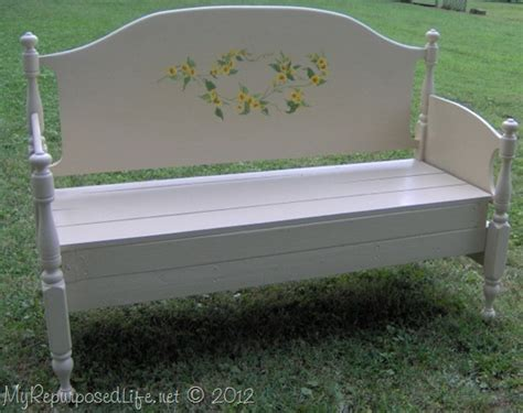 make a bench from a bed headboard bench ideas 25 projects my repurposed life