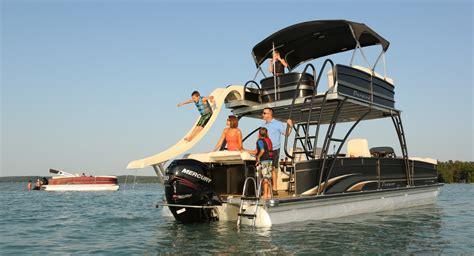luxury pontoon boats with slide google image result for http www pontoons images