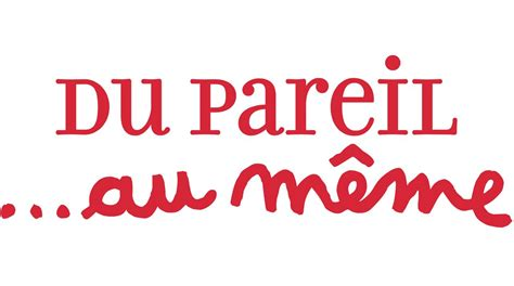 Du Pareil Au Meme - pin logo plus na pulpit on pinterest