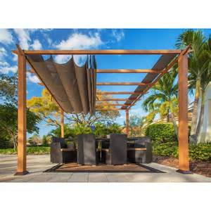 Retractable Awnings Home Depot Stc 11 Ft X 11 Ft Aluminum Catalina Pergola Pr100n1