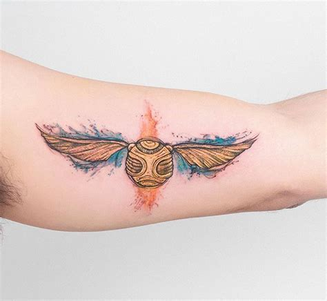 snitch tattoo robson carvalho robcarvalhoart on instagram golden