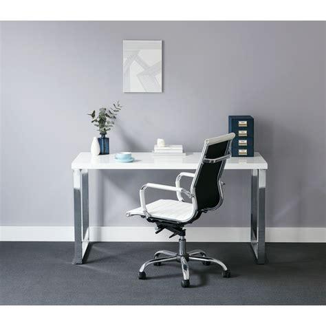 white and chrome desk contour loop leg desk white and chrome ebay