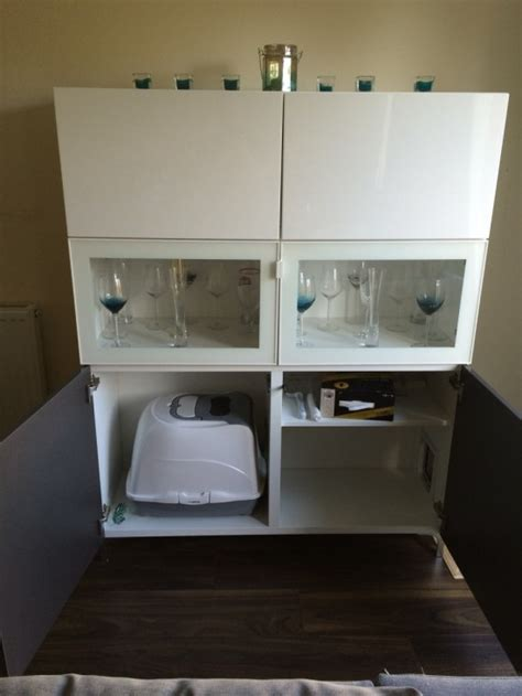 besta diy 11 simple diy litter boxes and loos from ikea units