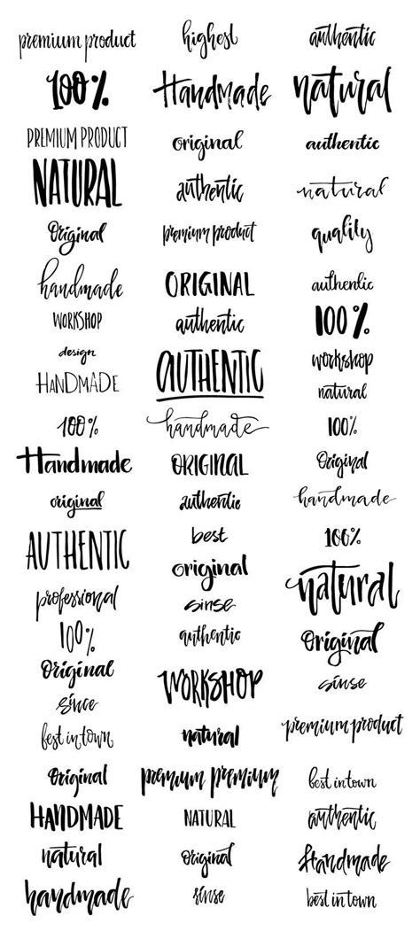 tattoo fonts editor handdrawn logo creator bundle template logos and