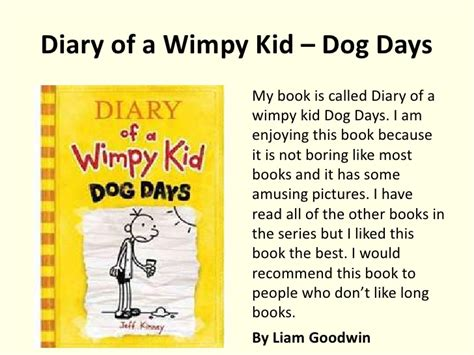 diary of the wimpy kid book report book reviews y7 to 9