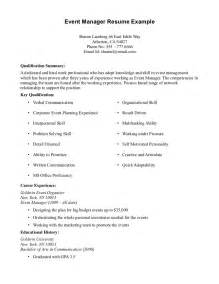Homemaker Resume Sle by Resume Exles No Experience Exle Resume No Work