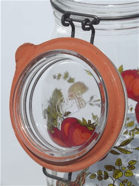 French Kitchen Canisters Spice O Life Glass Canisters Arc France Arcoroc French