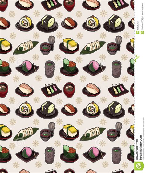 food pattern photography seamless japanese food pattern stock photography image