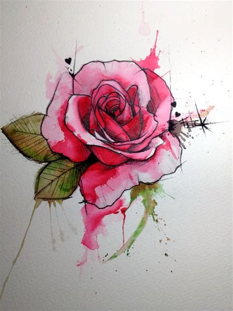 tattoo style roses 46 beautiful watercolor tattoos