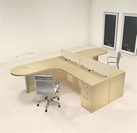 2 Person L Shaped Desk Two Person L Shaped Modern Divider Office Workstation Desk Set Ch Amb Sp5 H2o Furniture