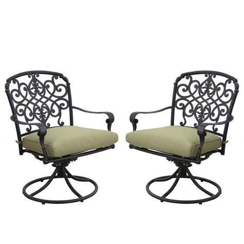Hton Bay Swivel Patio Chair Cushions by Hton Bay Edington Cast Back Pair Of Patio Swivel
