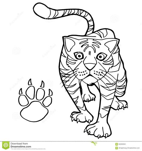 coloring page tiger paw cat paw print clip art clipartsco hot girls wallpaper