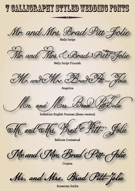 Wedding Lettering by Wedding Fonts Lettering Studio