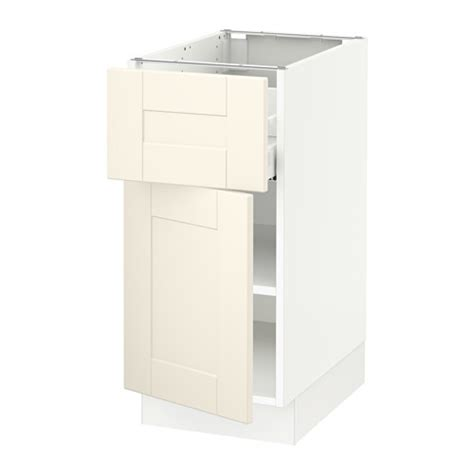 ikea lidingo white door cabinet kitchen drawer fronts ebay sektion base cabinet with drawer door white ma