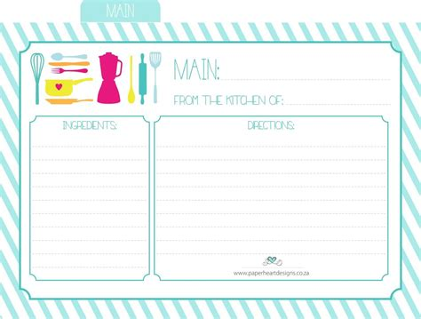 template for printing a card on 10x7 paper paper designs free printable recipe cards