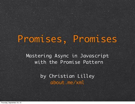 Javascript Pattern Promise | promises promises mastering async i o in javascript with
