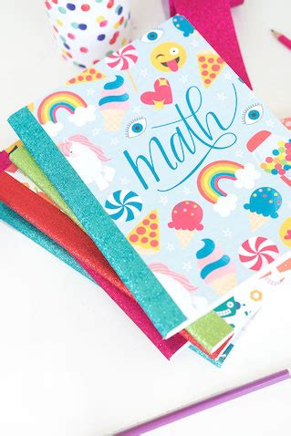 como decorar libretas escolares decorar cuadernos escolares con plantillas para imprimir