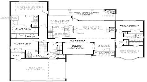 open house plans open concept kitchen best small open floor plans small