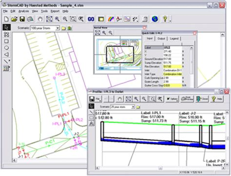 storm software layout creator stormcad storm sewer design and modeling software