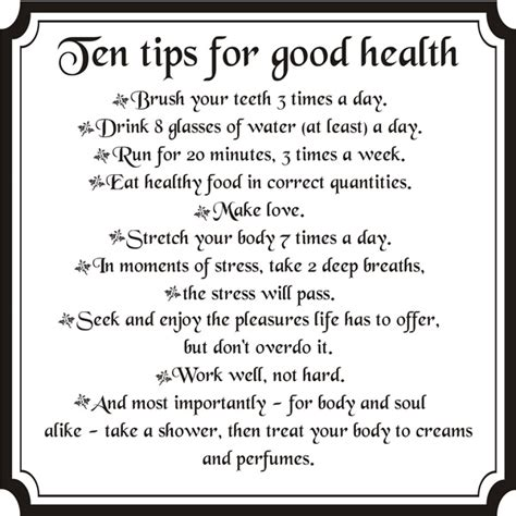 health tips in for language for boys for