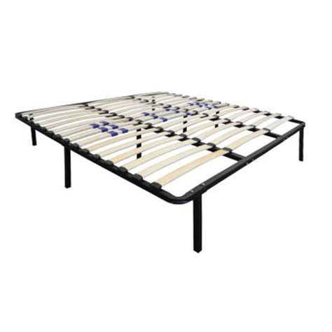 rest rite size bed frame with wood slat platform