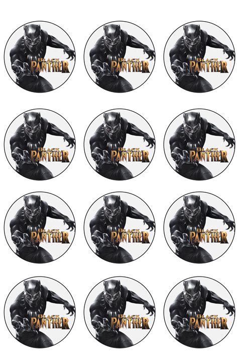 black panther cupcake toppers shore cake supply