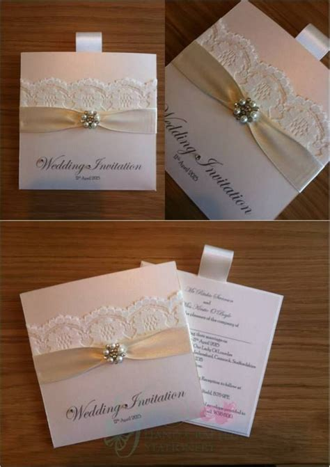 ivory wedding invitations uk ivory wallet wedding invitation with diamant 233 and pearl