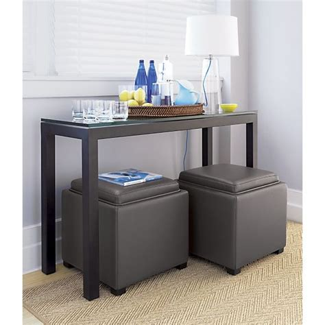 Glass Top Dining Room Tables Parsons Console Table With Glass Top In Tables Crate And