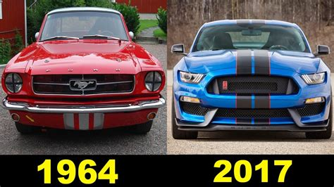 evolution mustang evolution of the ford mustang 1964 2017