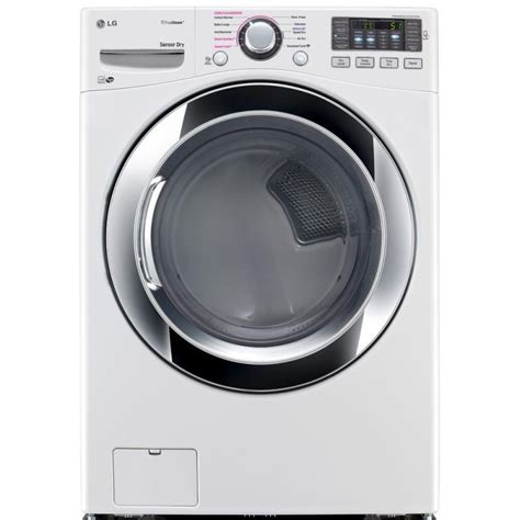 lg gas dryer lg 7 4 cu ft gas dryer with steam in white energy