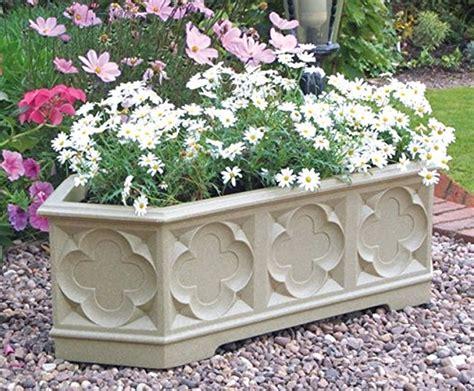 large patio pots large garden planter trough flower plant patio pot white