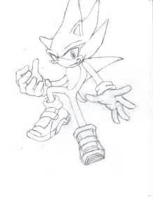 Hyper Sonic Coloring Pages By Aquaslash sketch template