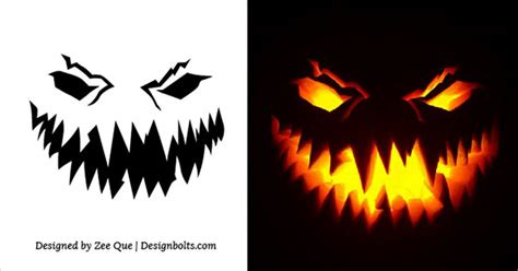 scary o lantern templates 10 free printable scary pumpkin carving patterns