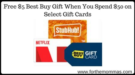Stubhub Gift Card Kroger - best buy free 5 best buy gift when you spend 50 on select gift cards ftm