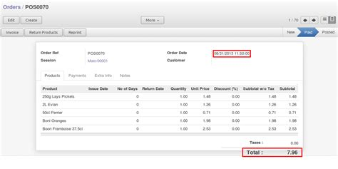 Pos Receipt Template by Openerp Point Of Sale Select Date From Interface