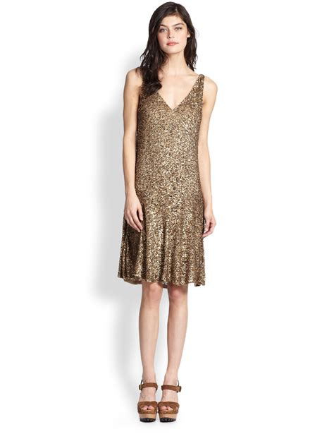 Asos Bring Us Another Style Gold Sequin Dress by Polo Ralph Sequined Dress In Gold Lyst