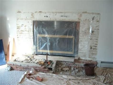 Remove Fireplace Hearth remove raised hearth turn into flush hearth new fireplace