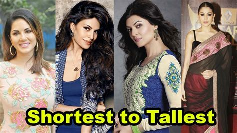 bollywood actress with height 5 6 shortest to tallest all bollywood actresses shocking