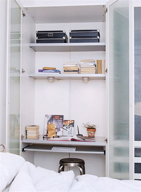 Desk Built Into Closet by 8 Easy Workspaces Sfgirlbybay