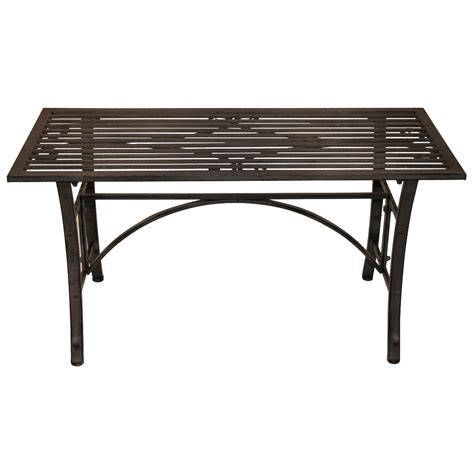 black metal patio coffee table charles bentley wrought iron coffee table outdoor patio