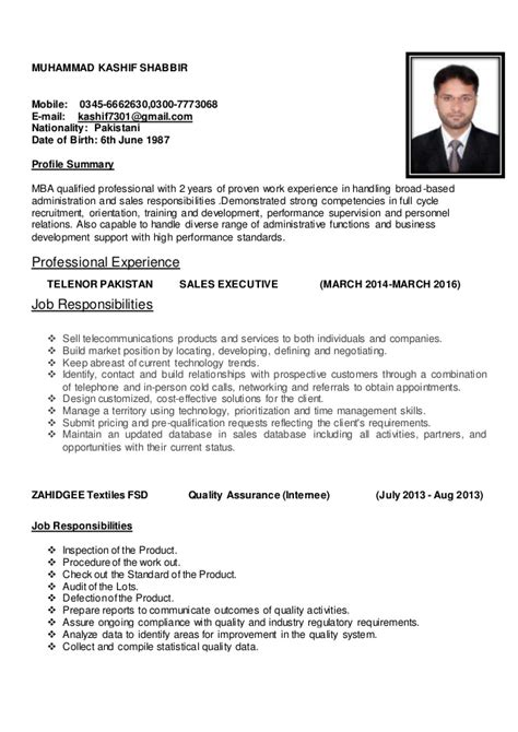 curriculum vitae format for sales executive sales executive cv