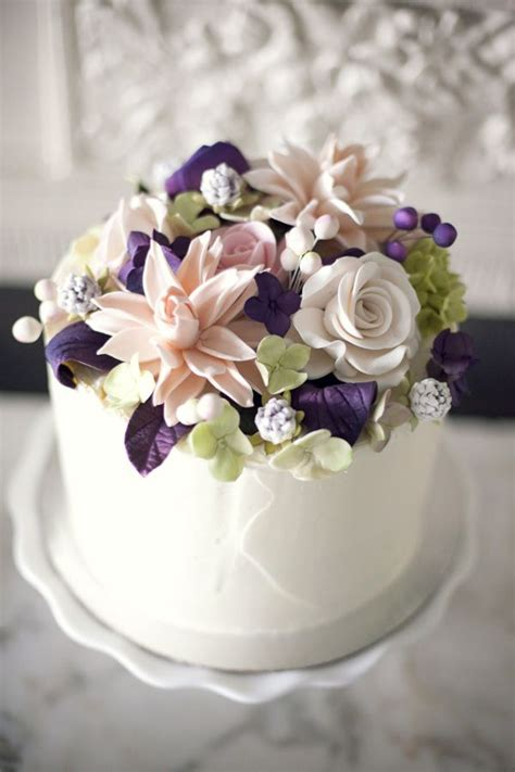 flower wedding cake topper sugar flower cake topper from lizz kuehl s wedding engine weddings