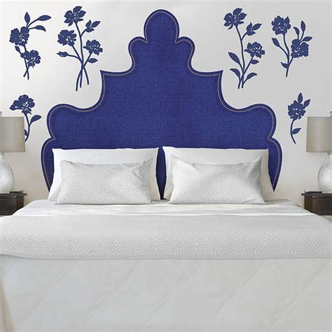 martha stewart headboard shaped headboard with flowers wall decal shop fathead